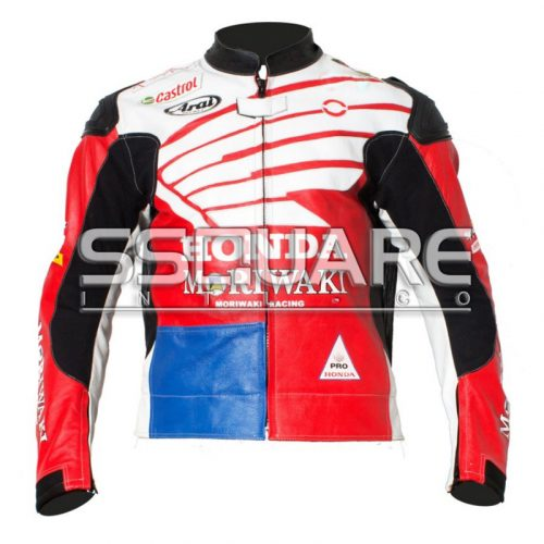 Honda Moriwaki Biker Leather motorbike jacket