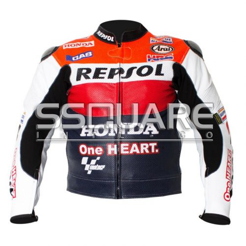 Honda Repsol One heart Biker Leather motorbike jacket
