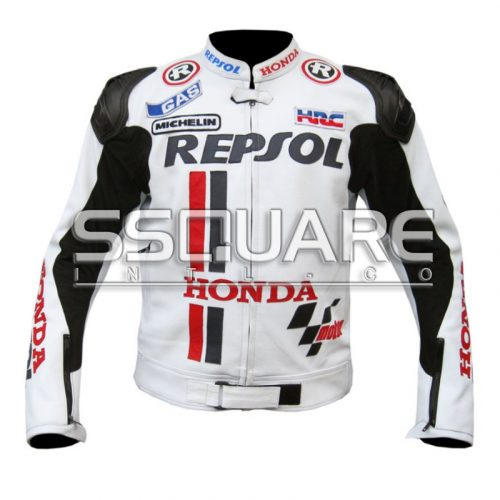 R Honda Repsol Biker Leather motorbike jacket