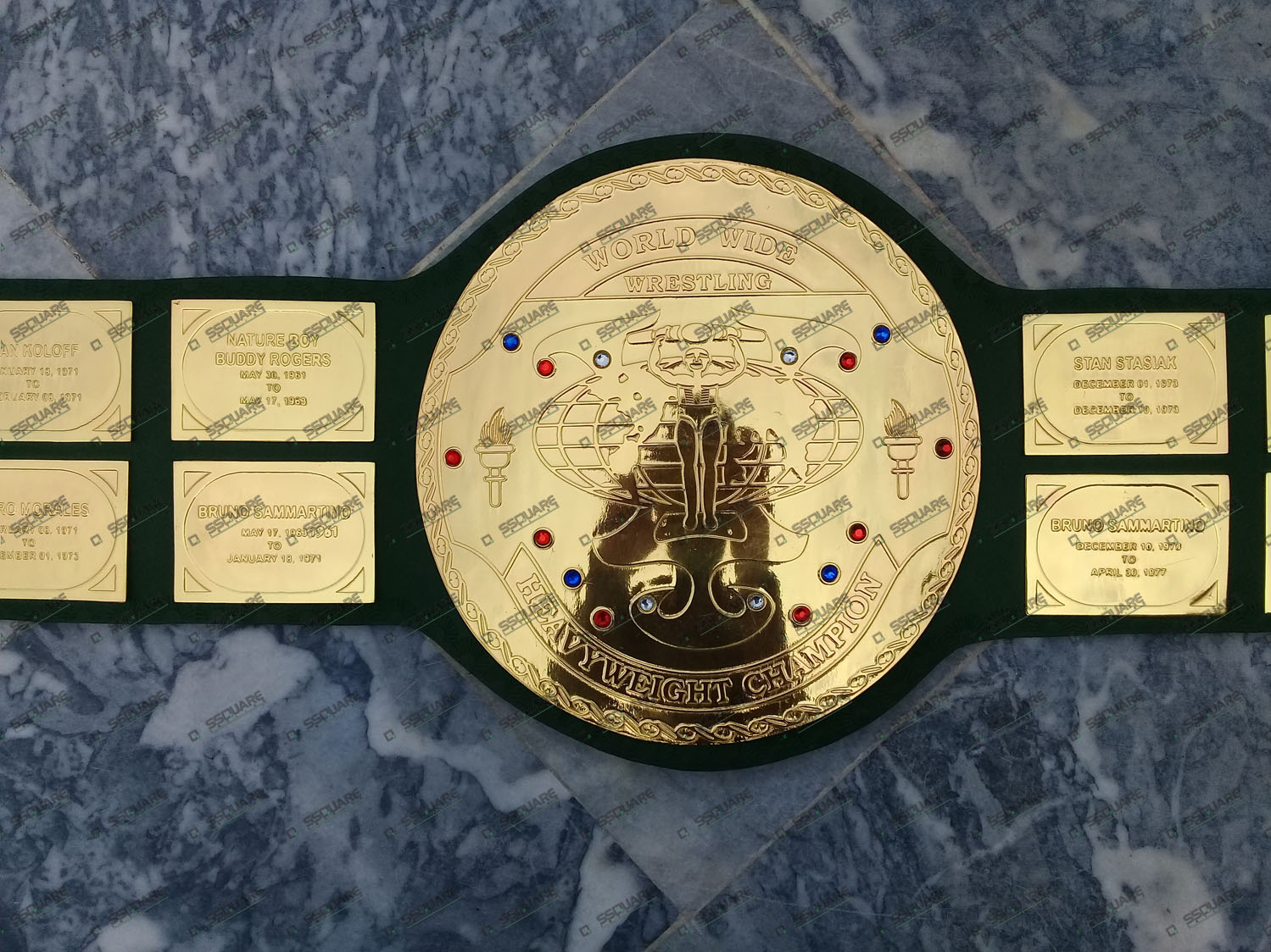 Hulk Hogan WWF Big Green Championship Belt