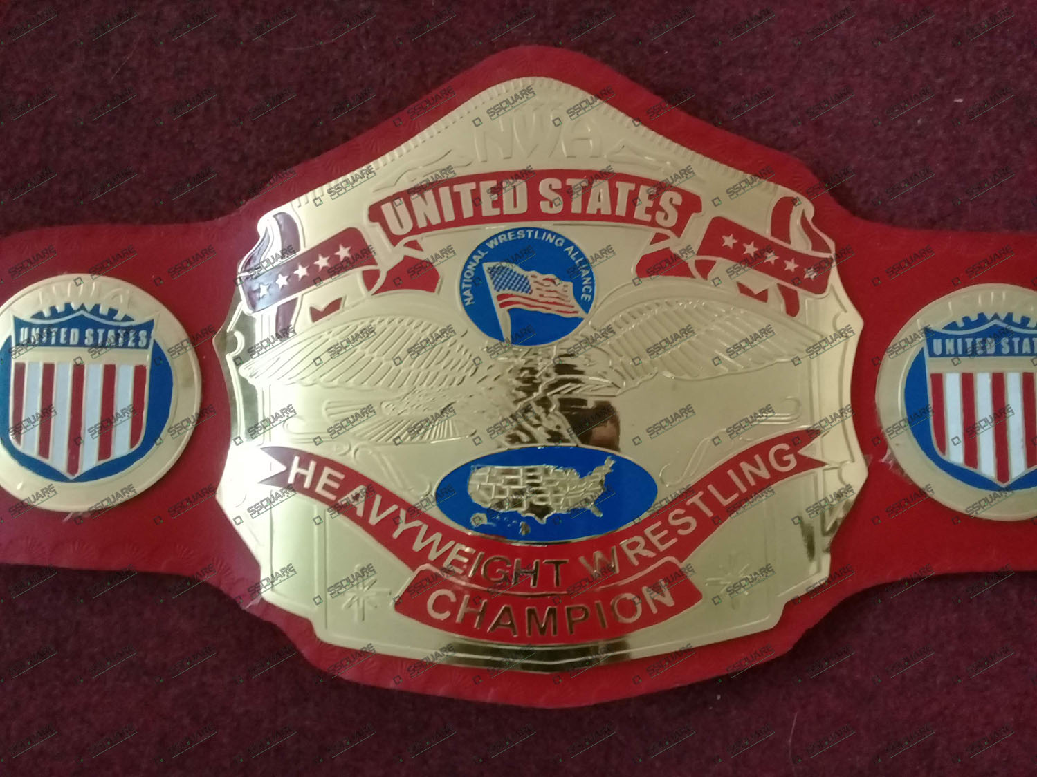 NWA United States Heavyweight Wrestling Champion replica belt