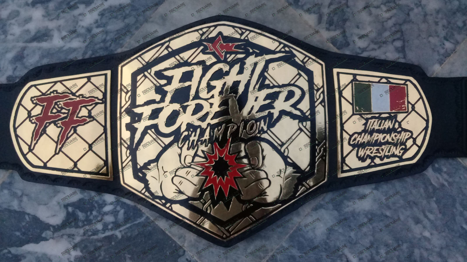 ICW Custom Fight Forever Champion belt