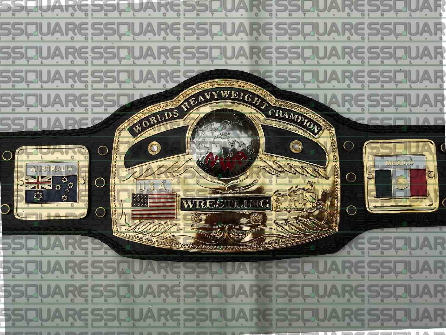 NWA Domed Globe Heavyweight Wrestling Champion replica belt (4mm version)