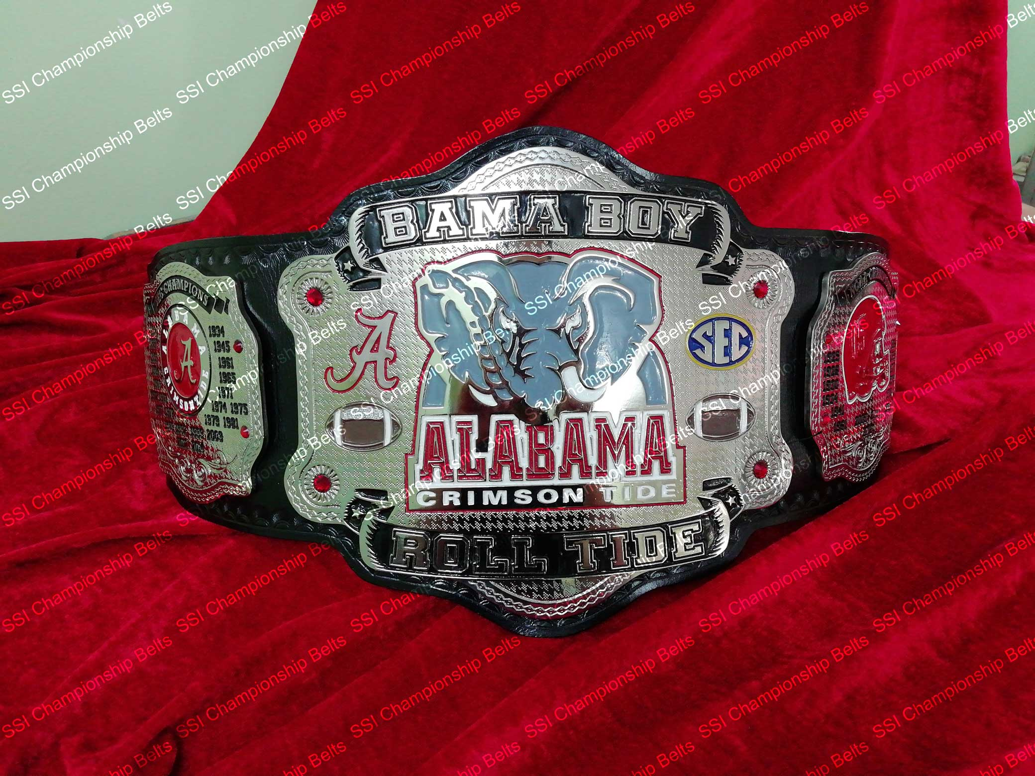 BAMA BOY Alabama Crimson Roll Tide Championship Belt