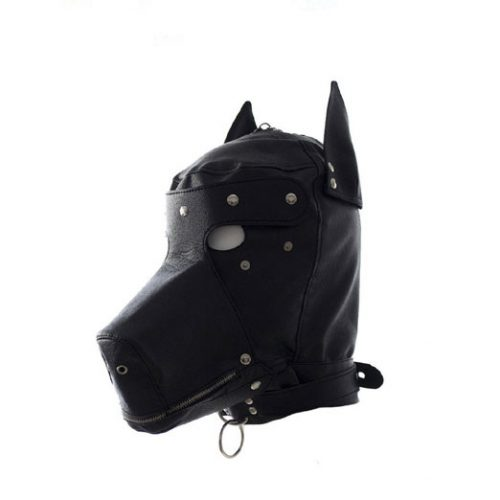 Costume Party Leather Gimp Dog Puppy Hood Full Mask Bondage