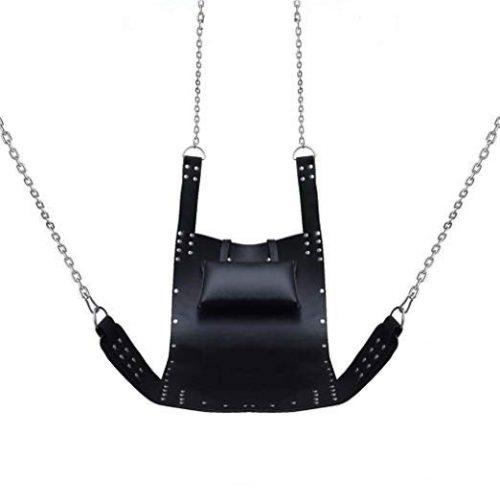 Black Fetish Strict Real Leather Swings Bondage