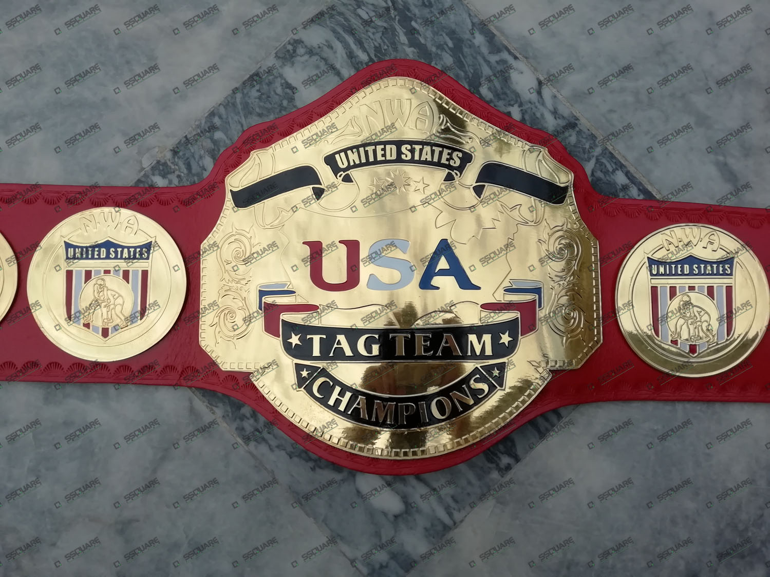 NWA United States USA Tag team Champion replica belt