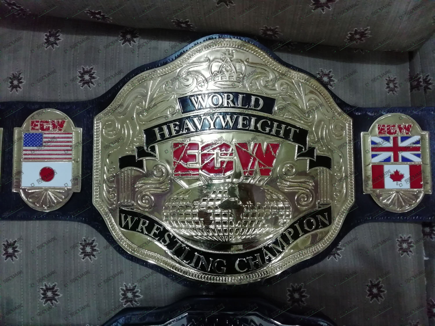 World Heavyweight ECW Wrestling Champion replica belt