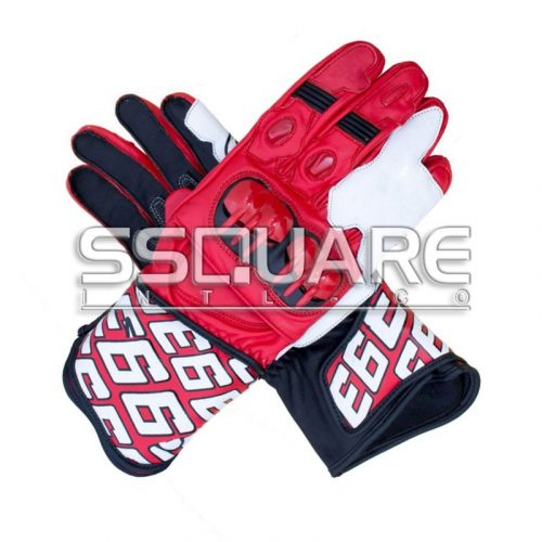 Jorge Lorenzo Motorbike MotoGP 2013 Race Leather Gloves