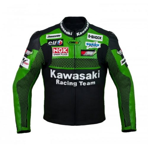 Kawasaki Green Racing Team Motorcycle Leather Jacket