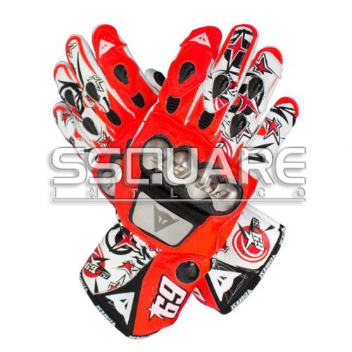 Nicky Hayden MotoGP 2013 Race Leather Gloves