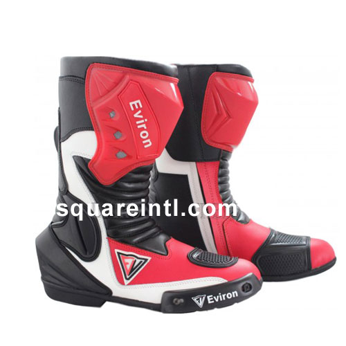 Red Motogp Leather Racing boots