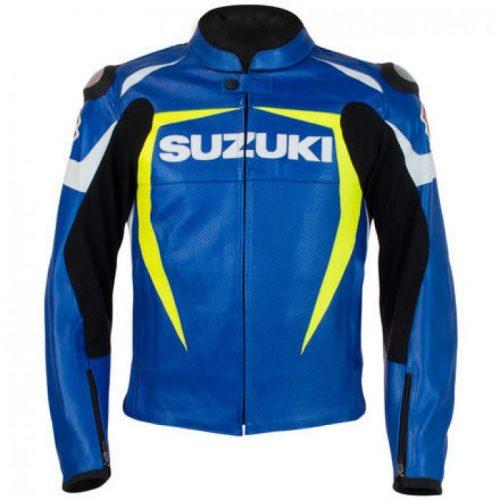 SUZUKI GSXR Men's Custom Motorbike Racing Leather Jacket