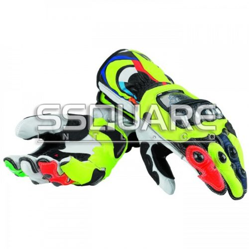 Valentino Rossi Ducati Motogp 2013 Race Leather Gloves
