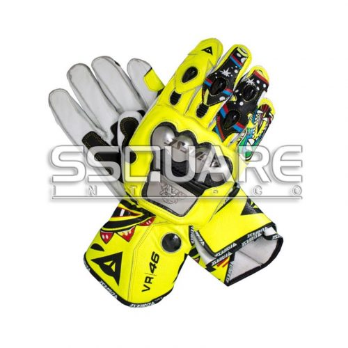 Valentino Rossi Motogp 2011 Race Leather Gloves