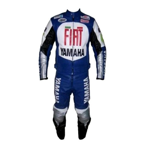 Yamaha FIAT Motorbike Racing Leather Suit with CE Armour