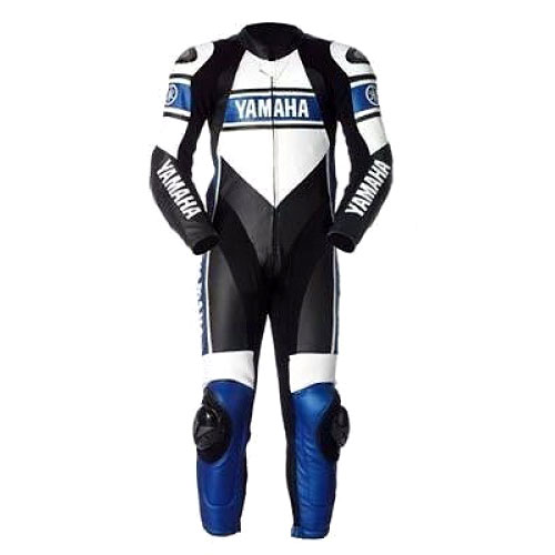 Yamaha Motorbike Racing Leather Suit with CE Armour