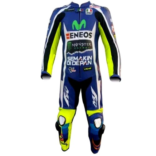 Yamaha Monster Engery VR46 Motorbike Racing Leather Suit with CE Armour