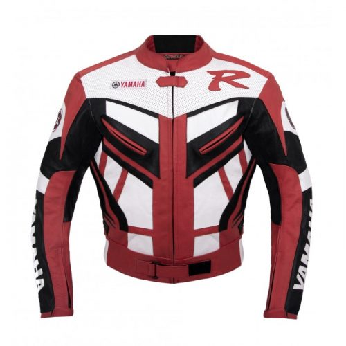 Yamaha Red Motorbike Racing Leather Jacket