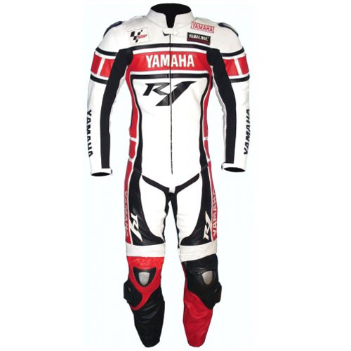 Yamaha R1 Motorbike Racing Leather Suit with CE Armour