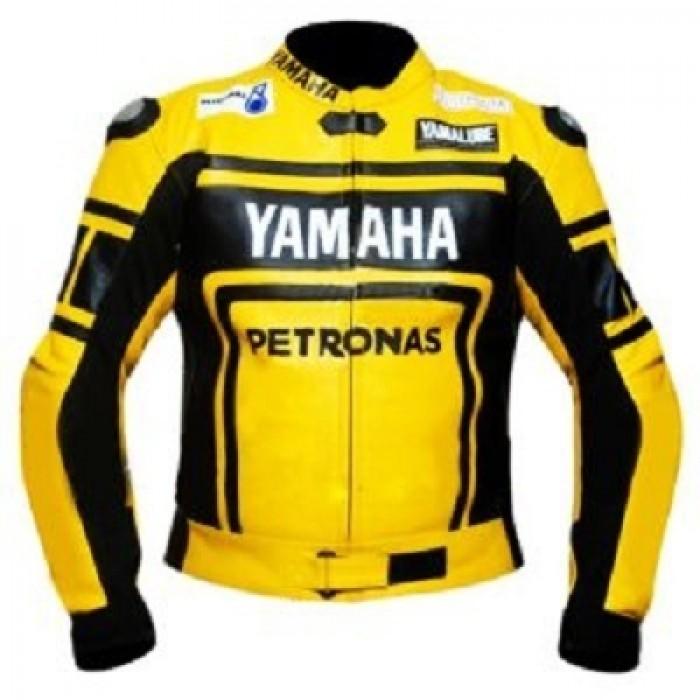 Yamaha Yellow Petronas Motorbike Leather Jacket