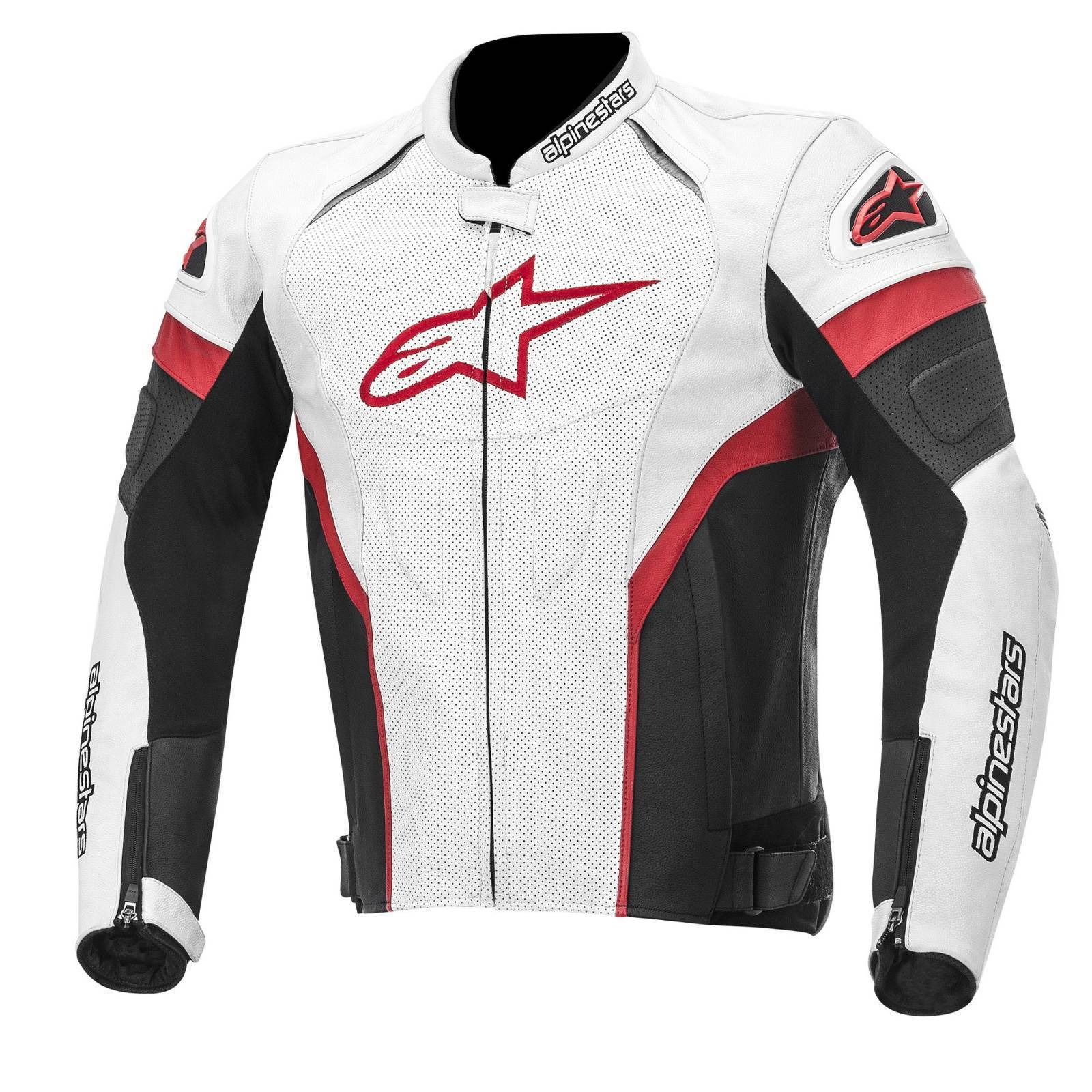 Alpinestars Stella Red White Women Leather Racing jacket