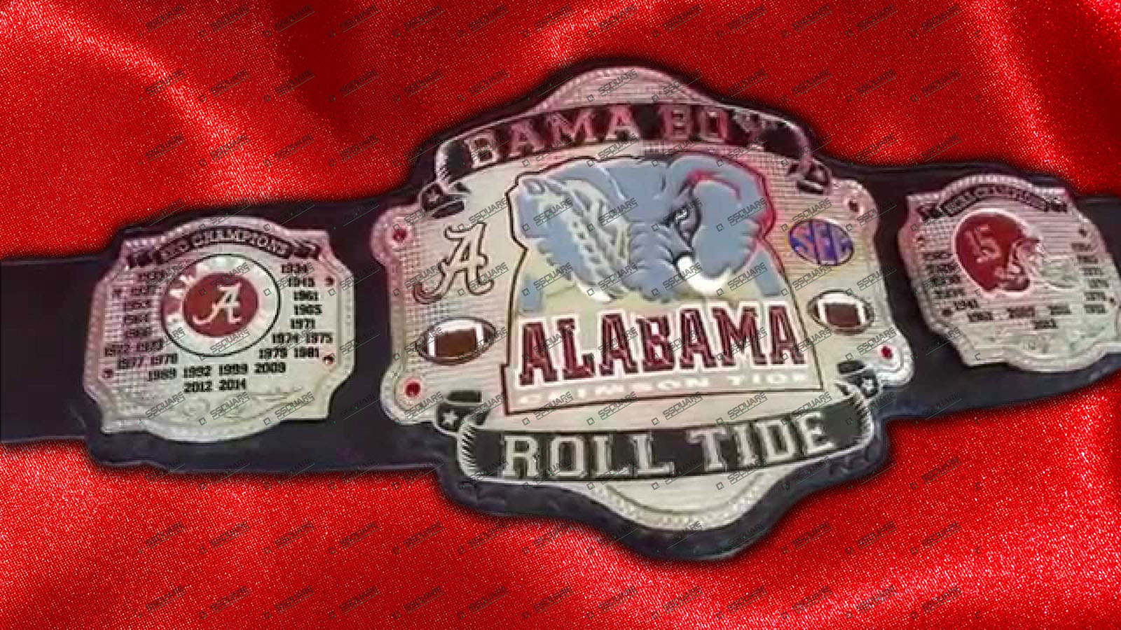 Bama Boy Alabama Crimson Roll tide Belt