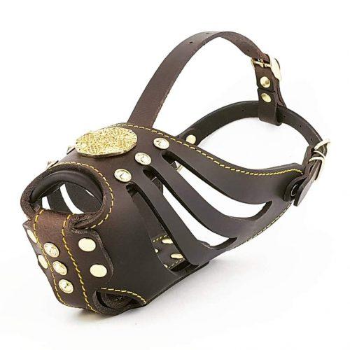 dark brown basket muzzle