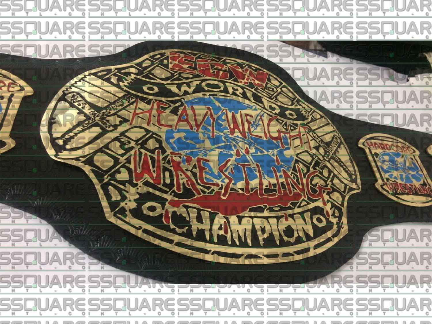 ECW World Heavyweight Wrestling Champion replica belt