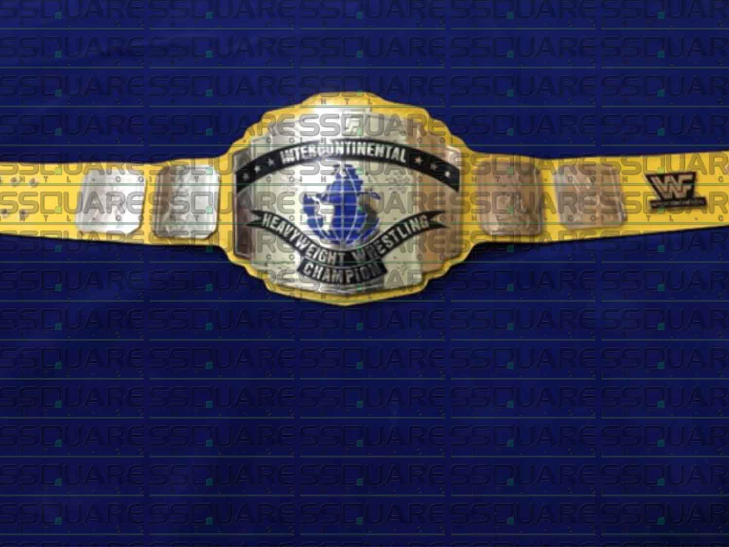 WWF Intercontinental Heavyweight Wrestling Champion replica belt