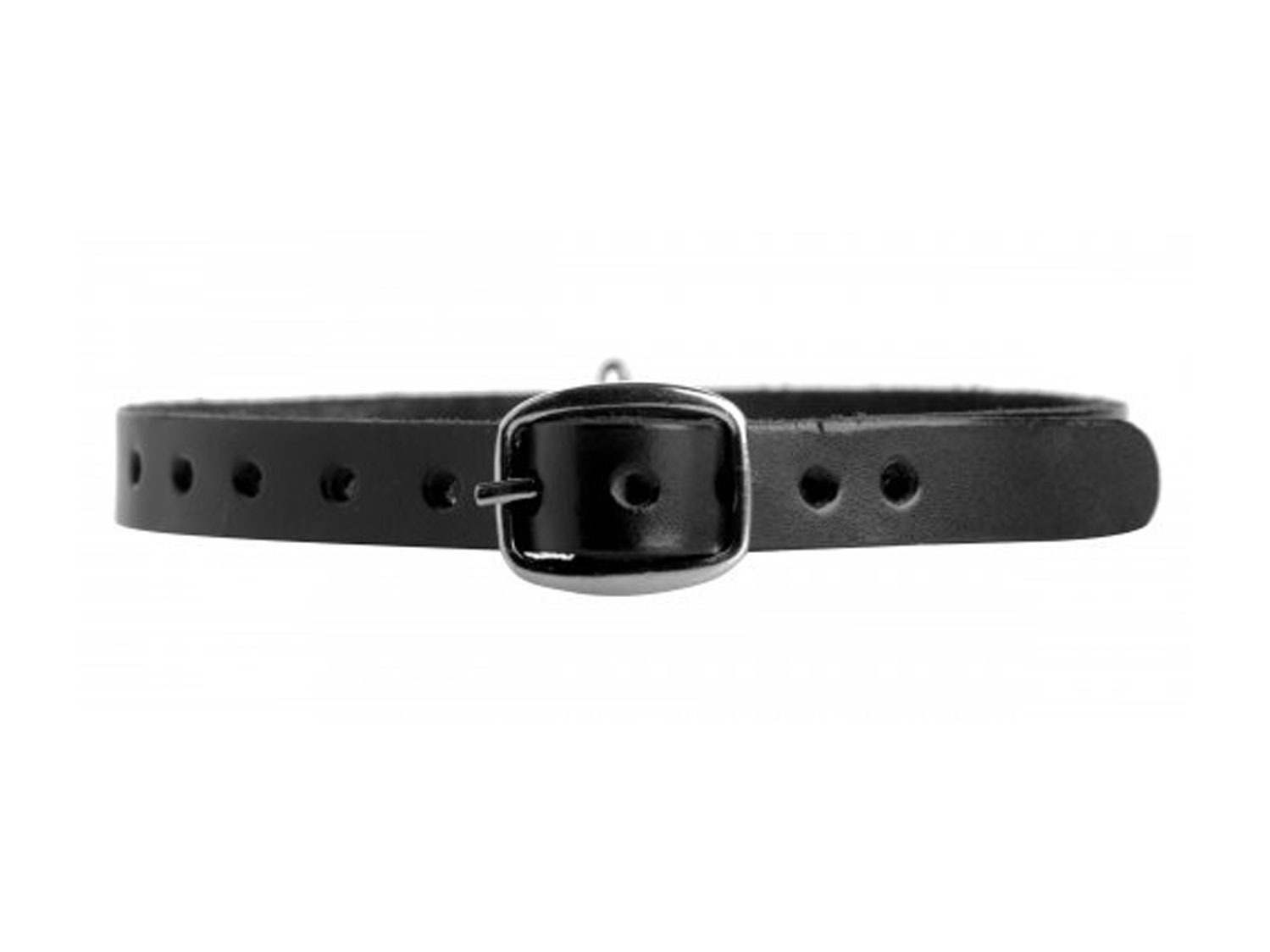 leather choker collar with o ring 3