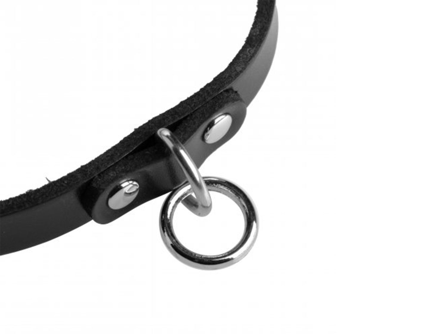 leather choker collar with o ring