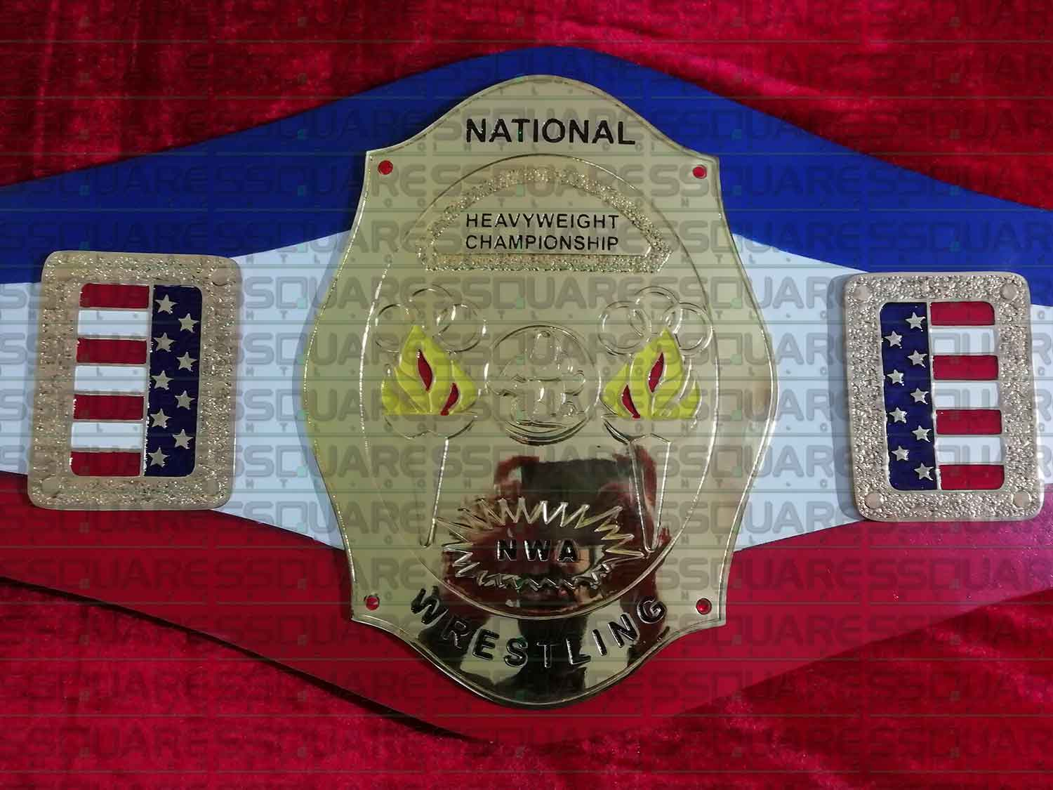 NWA National Heavyweight Wrestling Champion replica belt