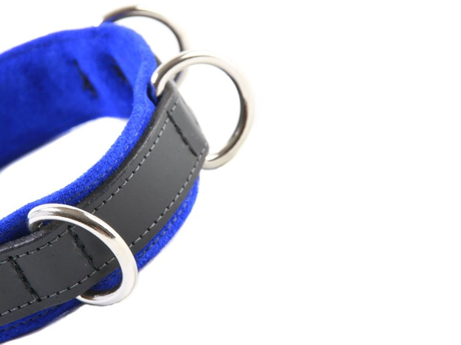 restrictive training bondage collar blue 2