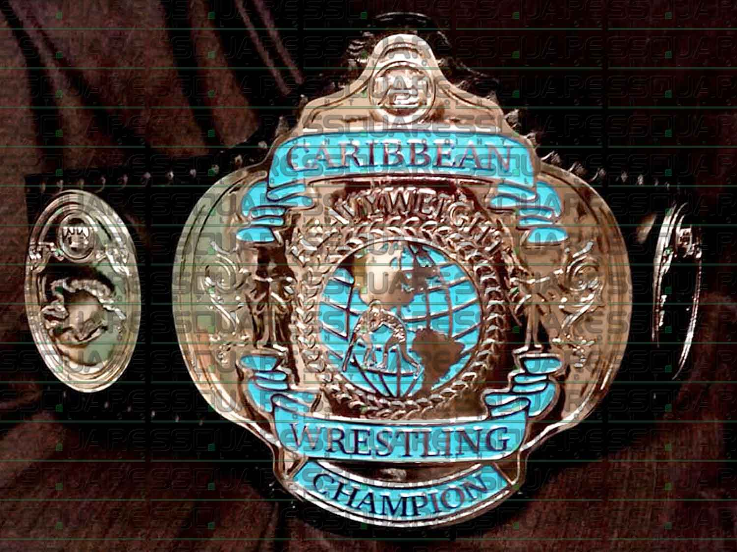Caribbean Heavyweight Wrestling Champion replica belt